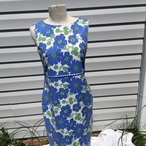 Talbots floral sleeveless shift dress size 8